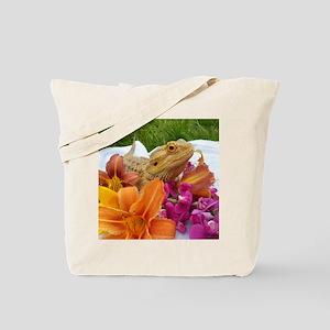 Floral beardie Tote Bag