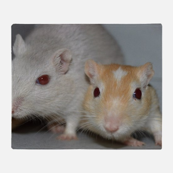 Gerbils Throw Blanket