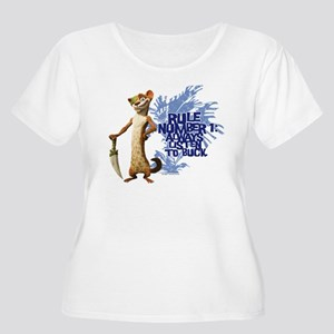 Ice Age Rule Women's Plus Size Scoop Neck T-Shirt