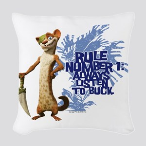 Ice Age Rule Woven Throw Pillow