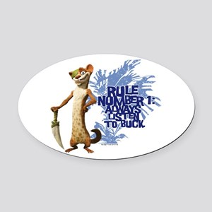 Ice Age Rule Oval Car Magnet