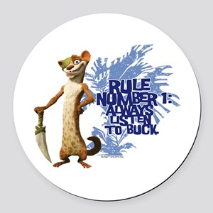 Ice Age Rule Round Car Magnet