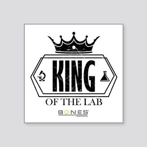 "Bones King of the Lab Square Sticker 3"" x 3"""