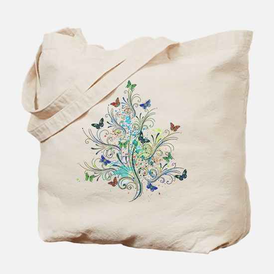 Flourishes and butterflies Tote Bag