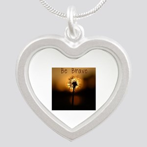 Be Brave Silver Heart Necklace