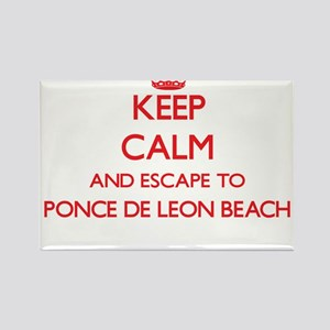Keep calm and escape to Ponce De Leon Beac Magnets