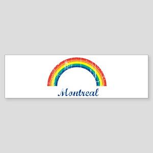 Montreal (vintage rainbow) Bumper Sticker