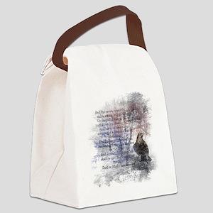 Edgar Allan Poe The Raven Poem Canvas Lunch Bag