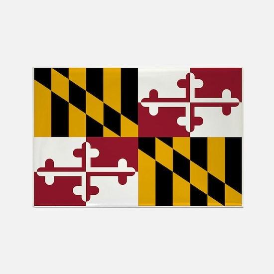 Maryland State Flag Rectangle Magnet