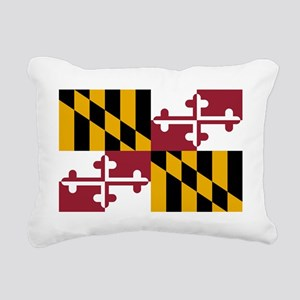 Maryland State Flag Rectangular Canvas Pillow