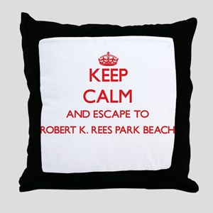 Keep calm and escape to Robert K. Ree Throw Pillow