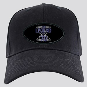 Men's Funny 70th Birthday Black Cap