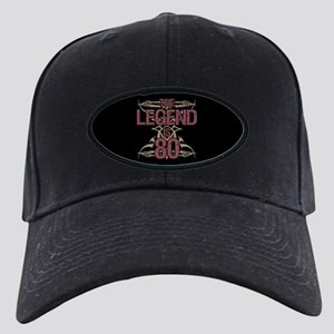 Men's Funny 80th Birthday Black Cap