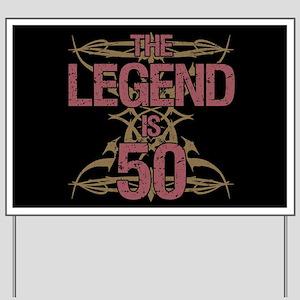 Men's Funny 50th Birthday Yard Sign