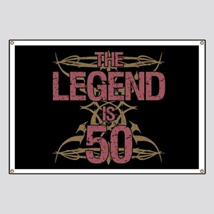 Men's Funny 50th Birthday Banner