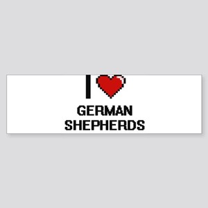 I love German Shepherds Bumper Sticker