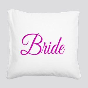 Bride Square Canvas Pillow