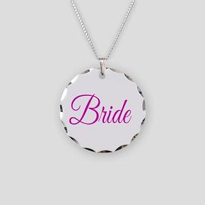 Bride Necklace Circle Charm