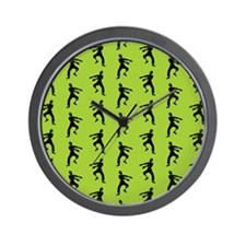 Zombie Pattern Wall Clock