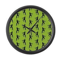 Zombie Pattern Large Wall Clock