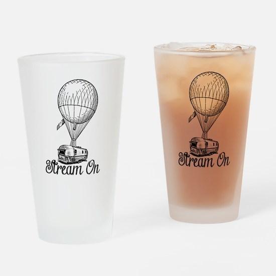 STREAM ON Drinking Glass