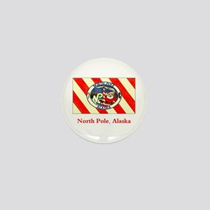 North Pole AK Flag Mini Button