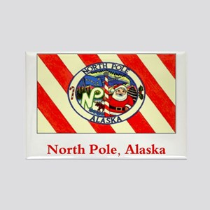 North Pole AK Flag Rectangle Magnet