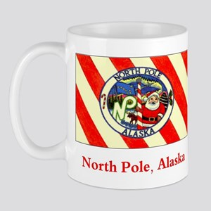 North Pole AK Flag Mug