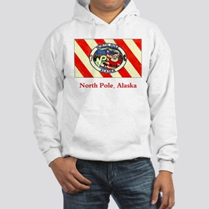 North Pole AK Flag Hooded Sweatshirt