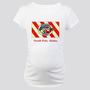 North Pole AK Flag Maternity T-Shirt
