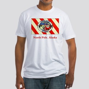 North Pole AK Flag Fitted T-Shirt