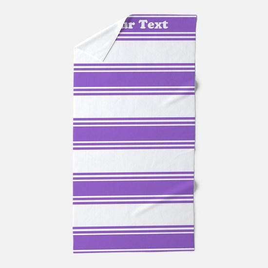 Classic Purple Stripes Beach Towel