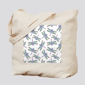 Watercolor Dragonfly Pattern Tote Bag