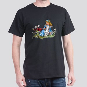 Alice and the White Rabbit Dark T-Shirt