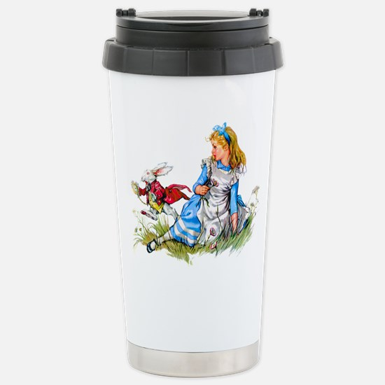 Alice and the White Rab Stainless Steel Travel Mug