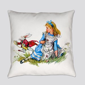 Alice and the White Rabbit Everyday Pillow