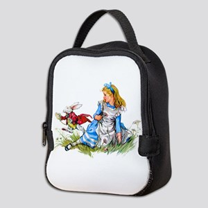 Alice and the White Rabbit Neoprene Lunch Bag