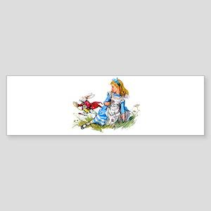 Alice and the White Rabbit Sticker (Bumper)