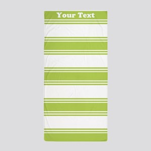 Classic Green Stripes Beach Towel