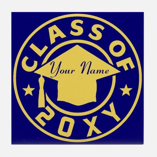 Class of 20XX Graduation Tile Coaster