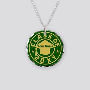 Class of 20XX Graduation Necklace Circle Charm