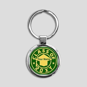 Class of 20XX Graduation Round Keychain