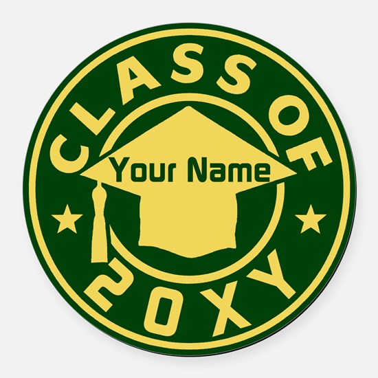 Class Of 20xx Round Car Magnet