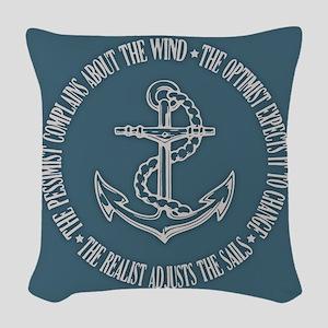The Realist Sailor Woven Throw Pillow