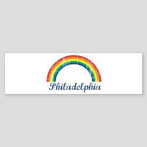 Philadelphia (vintage rainbow Bumper Sticker