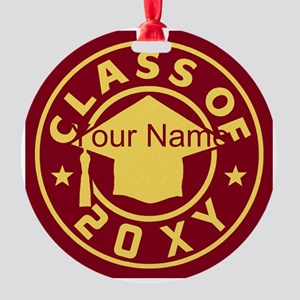 Class of 20XX Graduation Round Ornament