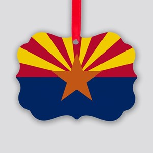 ARIZONA STATE FLAG Picture Ornament