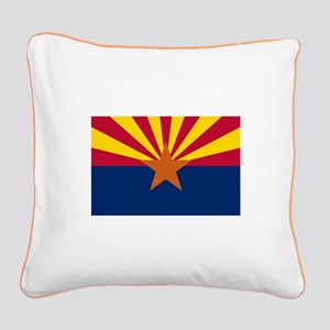 ARIZONA STATE FLAG Square Canvas Pillow