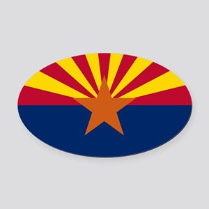 ARIZONA STATE FLAG Oval Car Magnet