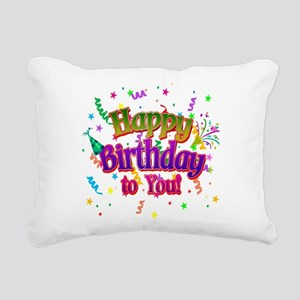 Happy Birthday To You Rectangular Canvas Pillow